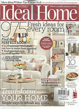 IDEAL HOME, MARCH, 2015  ( 975 FRESH IDEAS FOR EVERY ROOM * TRANSFORM YOUR HOME