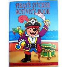 10 Pirate Sticker Activity Books, All Occasions, Birthday Party Bag Fillers Toy