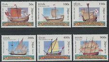 LAOS N°1287/1292** Bateaux, voiliers, 1997, Sailing Ships  Set MNH