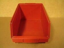 RED PVC BOX FOR +- 100 VINYL 45T SINGLES