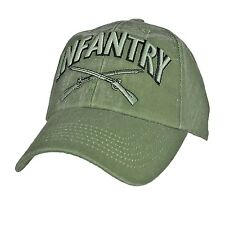US ARMY INFANTRY - U.S. Army Crossed Weapons OD Green Military Baseball Cap Hat