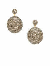 AMRAPALI Champagne Diamond Domed Double Disc Drop Earrings $4220 Worn Once!