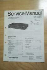 Technics Service Manual for the ST-G70 Tuner