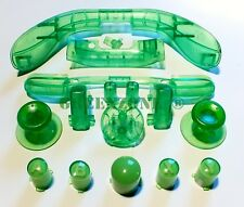 XBOX 360 FULL CLEAR GREEN MOD KIT ABXY Buttons, Sync, Thumbsticks, Lb, Rb, LT,RT