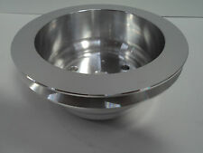 SB Chevy Aluminum Crankshaft Pulley 1 Groove LWP Long Water Pump SBC 350 Crank