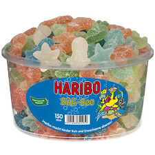 """1 Container x HARIBO """"Sweet-Sea / Süss-See"""" 1,2kg / 2.65lbs  **NEW 2017**"""