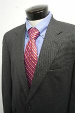 BROOKS BROTHERS 346 brown gray plaid 2 button blazer sportcoat sz 44R mens #4883