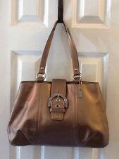 Coach Soho Leather Tote Bronze Metallic Handbag Purse F18751 $378 Authentic