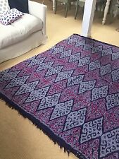 Moroccan / Indian Summer Purple IKAT large Rug / Throw