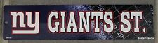 Plastic Street Sign NY New York Giants ST NFL Football League Door Room Decor
