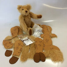 """12"""" Mohair Teddy Bear Making Kit 'Gerry' by Rose-May"""