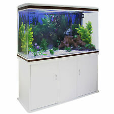 Peces Tanque Acuario complete set up Tropical Marino 4ft de 300 L blanco del gabinete