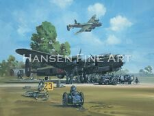 Avro Lancaster Bomber Command Aviation Plane Painting Art Print Michael Turner