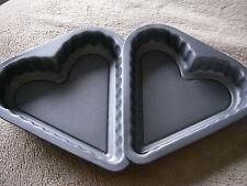 2 x a forma di cuore per cottura TIN ANTIADERENTE FORNO cuocere CUCINA CAKE PAN VASSOIO LATTA