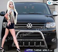 VW T5 TRANSPORTER CARAVELLE MULTIVAN KOMBI SHUTTLE BULL BAR 2003-2009 LOGO NEW