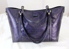 Authentic Gucci Monogram Purple Leather PVC Large Tote Shopper Handbag - Italy
