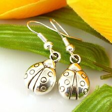 Lady 4 Pair Charm Fashion Jewelry Silver Insect Stud Earrings Free Ship