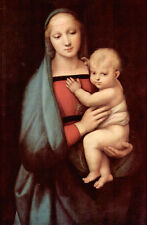 Beautiful Oil painting Madonna of the Grand Duke with child Christ