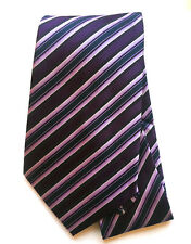 Men's Neck Tie Burgundy Stripe Regimental Design Wedding Necktie Silk New