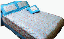 Silk Embroidery Bedcover Bedsheet Bedspread Kantha Coverlets Bedspread King size