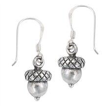 Gorgeous Little ACORN Hook Dangle Earrings 925 Silver