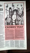 BLACK CROWES  Harmony..album review 1992 UK ARTICLE / clipping