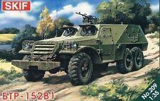Btr 152 V1 (B1) Apc (soviético, Siria, polaco, alemán oriental mkgs) 1/35 Skif Rara!