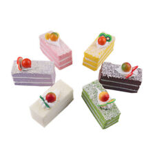 PU Fake Birthday Cake Dessert Model Decoration Shop Sample Display Props Crafts