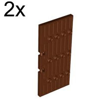 LEGO 2x Reddish Brown Door 1 x 5 x 8 1/2 Stockade 4561911 87601