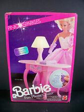 NIB BARBIE DOLL 1990 PINK SPARKLES FUN PHONE CENTER