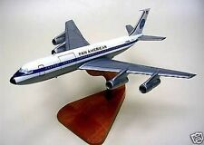 B-707 Pan Am Airlines Boeing 707 Desk Airplane Wood Model Small