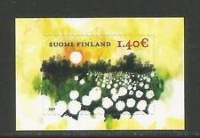 Finland 2007 Sunset/Flowers--Attractive Art Topical (1279) MNH