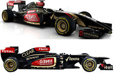 1/10 Unpainted 2014 F1 Lotus E22 RC Car Body with Decal Wings for Tamiya F104