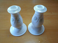 Villeroy & Boch Germany FLORA AZZURRA Set of 2 Candlestick Holders 5 1/2 in