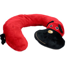 Animal Character Travel Neck Pillow Red Dog Support Cushion U Shaped Head Rest