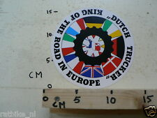 STICKER,DECAL DUTCH TRUCKER KING OF THE ROAD IN EUROPA LARGE