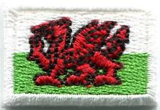 Flag of Wales Welsh red dragon celtic goth applique iron-on patch Small S-383