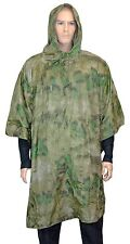 Mil-Tacs FG Camo EMERGENCY PONCHO Ripstop Waterproof Rain Cape One Size Fits All
