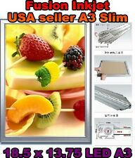 A3 LED Slim Aluminum Light Box 18.5 x 13.75 Poster Display Advertising frame aa