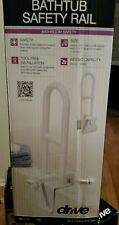 "Bath Safety Bar Bathtub Rail Grab White Bathroom Shower Handle Tub 14""Adjust NEW"
