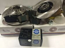 PEUGEOT 308 CITROEN C4 DS4 REAR SET BRAKE PADS & DISCS WITH ABS & BEARINGS