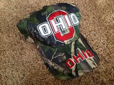 Ohio State Buckeyes Dark Green, Tan And Tree Bark Camo Baseball Hat