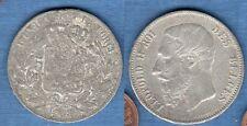 IIème République - Fausse Monnaie 5 Francs Leopold II 1868