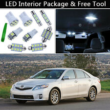 12PCS White LED Interior Car Lights Package kit Fit 2007-2011 Toyota Camry J1
