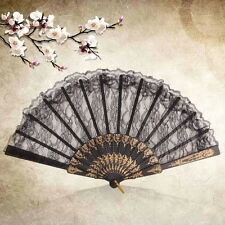 Chinese Vintage Fancy Dress Costume Party Bar Dancing Folding Lace Hand Fan? UR