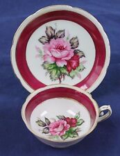 Vintage Rose Porcelain Teacup and Saucer