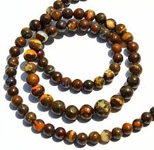 83Cts. Natural Australian Boulder Opal Flashy Fire 4-7MM Round Bead Necklace 18""