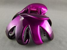 octopus hair clip Purple Black ombre metallic Big barrette claw clamp spider