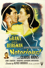 cary GRANT ingrid BERGMAN in HITCHCOCK'S NOTORIOUS movie poster LOVE 24X36