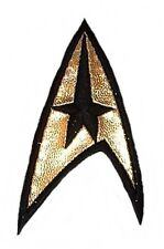 "Star Trek Command Gold Black  1 1/4"" Wide Embroidered Patch"